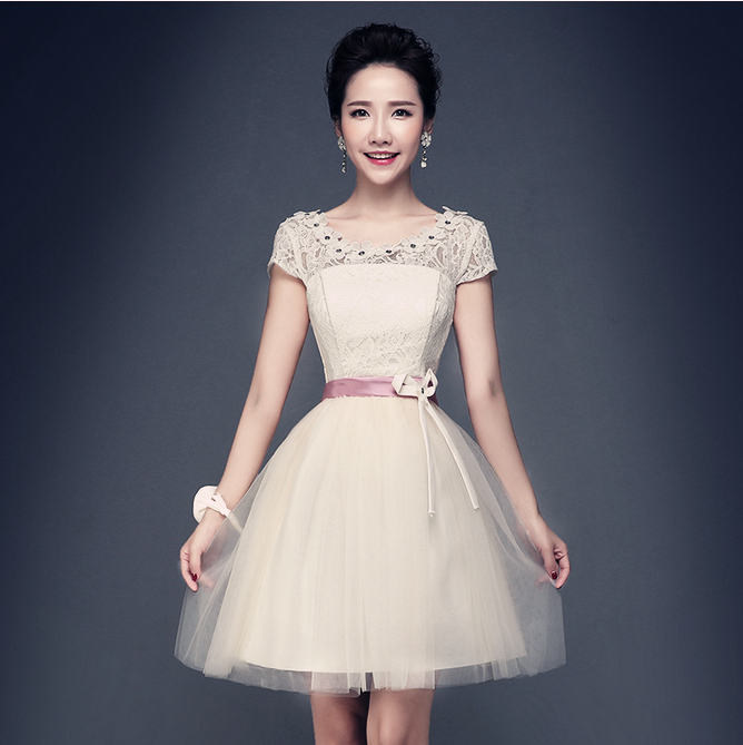 elegant short formal occasion modest party dresses teens evening dress corset ball gowns 50 S3198 - I And You Story store
