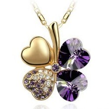 2015 Fashion jewelry silver plated necklace Sweet Clover Pendant necklaces for women girlfriend gifts b14