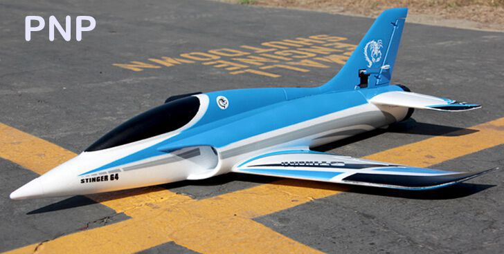 Freewing Stinger 64mm standard or upgraded PNP format RC EDF jet plane sports jet R/C model airplane high speed hand launch(China (Mainland))