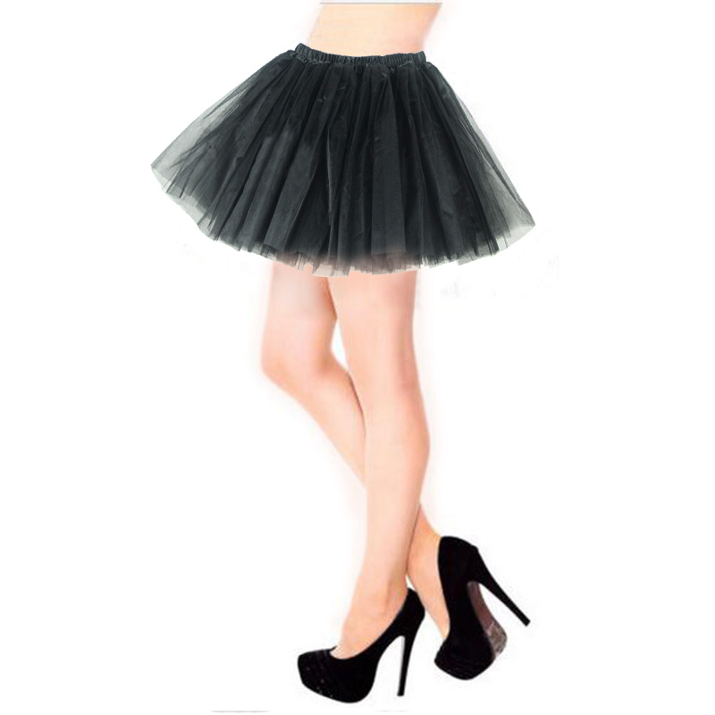 Women Tulle Tutu Mini Organza 3 layers Skirt Party Performance Gorgeous Girl tutu Petticoat(China (Mainland))