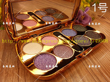 Eye shadow Bear 6 styles 8 colors colorful fine diamond shining eye shadow palette with brush makeup sets