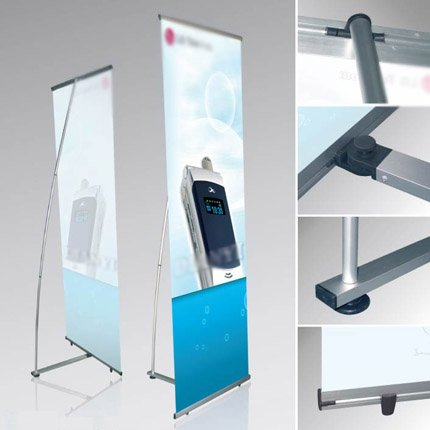 Quality aluminum alloy L banner stands (with printed your graphic)(China (Mainland))