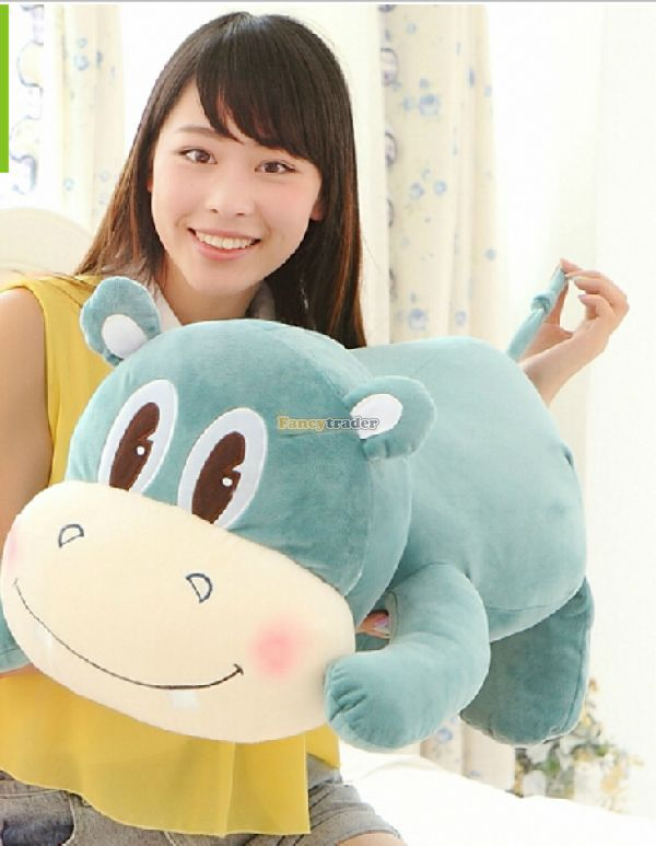 Fancytrader 39 / 100cm Lovely Super Soft Plush Giant Hippo Toy, 2 Colors Available! Free Shipping FT50151<br><br>Aliexpress