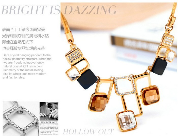 New high end fashion crystal necklace jewelry classic for High end fashion websites