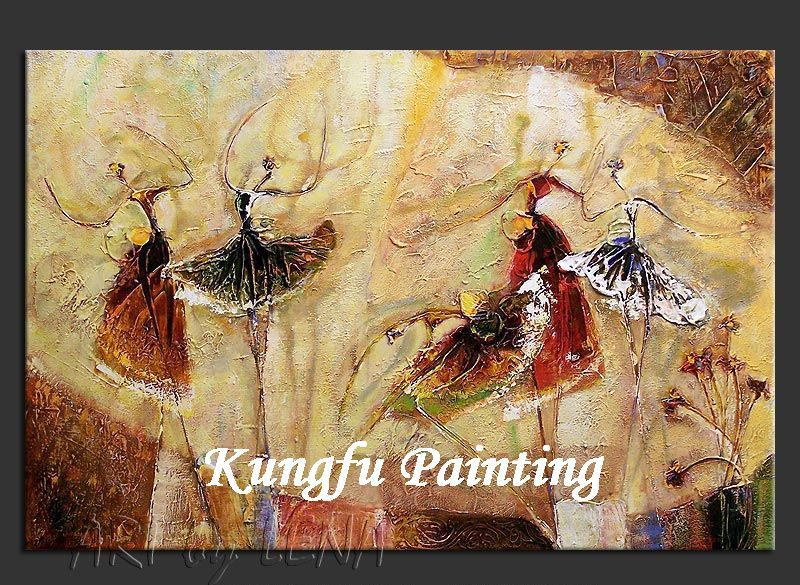 dab318 100% handmade unframed high quality modern abstract contemporary oil painting on canvas ballet dancer painting(China (Mainland))