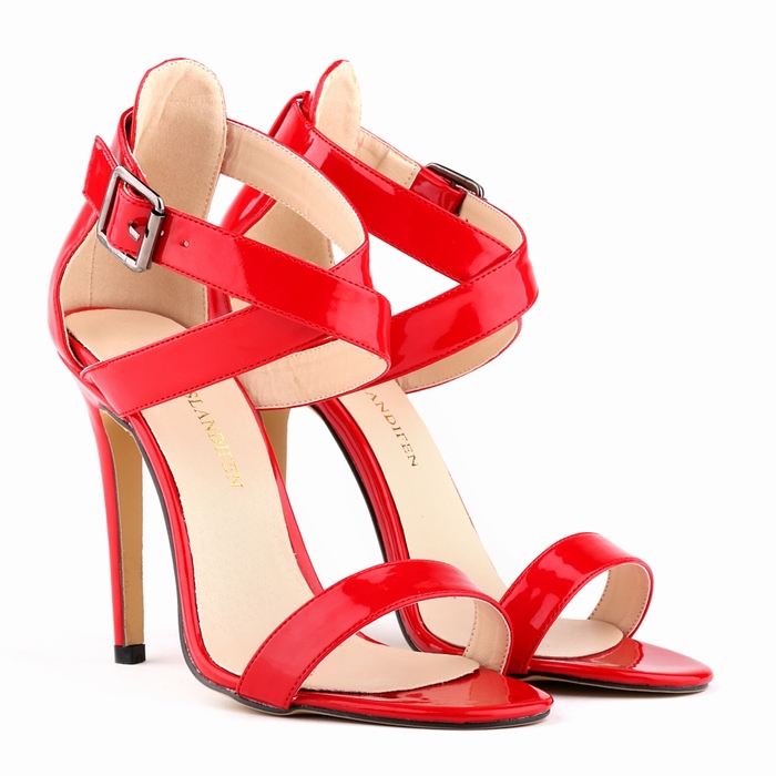 Гаджет  lady women SEXY PARTY OPEN TOE BRIDAL PATENT LEATHER HIGH HEELS SHOES SANDALS US SIZE 4-11   14 color None Обувь