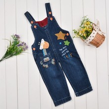Free Shipping 2015 New Arrival Fashion Suspender Pants Children Casual Boys Suspender Denim Kids Hot Selling Jeans Baby Pants 50(China (Mainland))