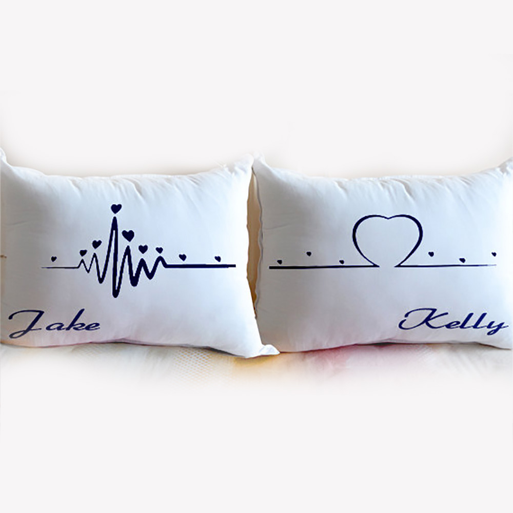 Personalized bedding pillow,Your Side My Side Pillowcase Custom Couple Pillow Case,gift for Lover,wedding keepsake,Cushion Cover(China (Mainland))