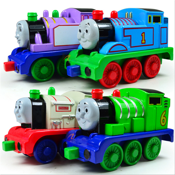 D415 Cartoon children's toy car alloy Thomas and friends back car magnetic sound and light can be connected(China (Mainland))