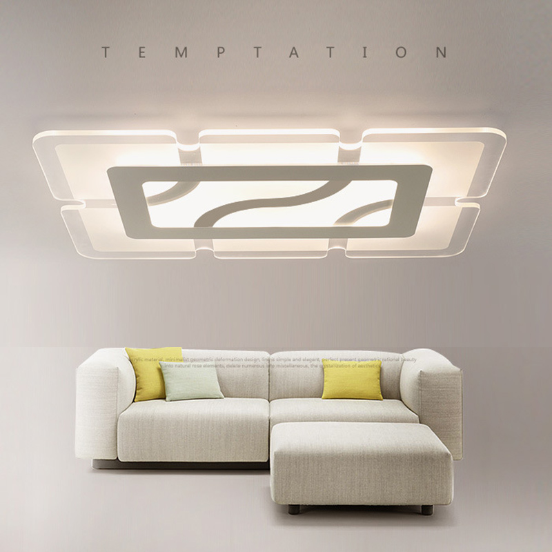 modern living led ceiling lights flush mount lighting fixture bedroom acrylic ceiling lamp lamparas de techo plafoniere moderne