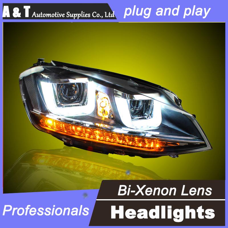 car styling for vw golf 7 headlights u angel eyes drl 2014 for vw golf 7 led light bar drl q5 bi. Black Bedroom Furniture Sets. Home Design Ideas