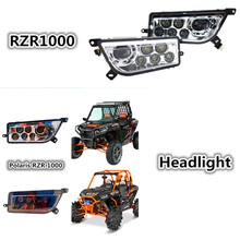 Buy Polaris RZR 1000 ATV UTV Chrome Black LED Headlight Polaris RZR 900 Conversion Led Headlight Kit RZR XP 1000 XP TURBO Lamp for $96.89 in AliExpress store