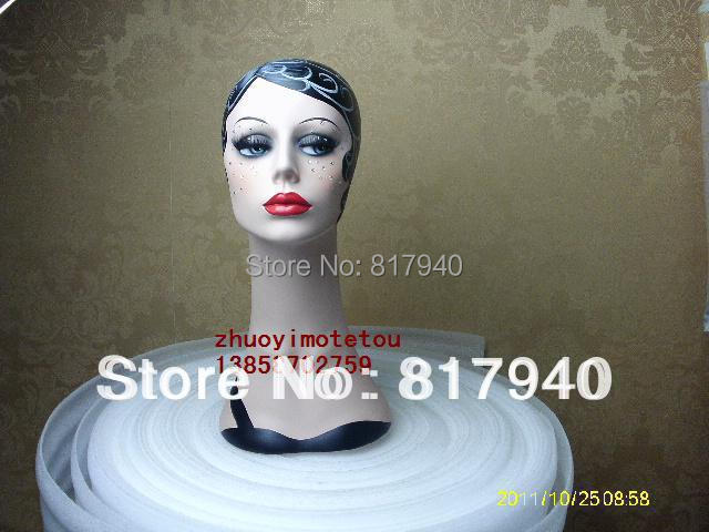 New Fashion Design High quality Fiberglass vintage female mannequin dummy head bust for ring &wigs & hat & jewelry display(China (Mainland))