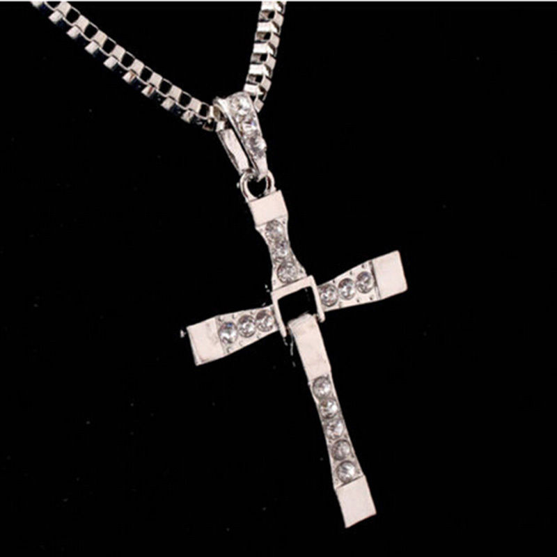 Fashion Unisex's Men Stainless Steel Cross Pendant Necklace Chain Silver/Gold(China (Mainland))