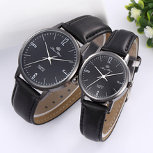 Feifan Brand Lovers' Watches Men Women Dress Watch Couple Quartz Casual Watch Pair Leather Band Unisex Dress Clock
