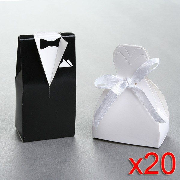 Wholesale free shipping 40 lot wedding favor boxes gift for Wedding dress shipping box