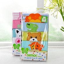 Free shipping 5pcs/pack Summer New Style Baby  Cotton T-shirts Boy Girl Embroidered Cartoon Pattern Beautiful adr0144(China (Mainland))