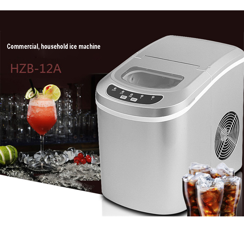 Free DHL 1pc15kgs 24H 220V Small commercial Automatic ice font b Maker b font Household ice