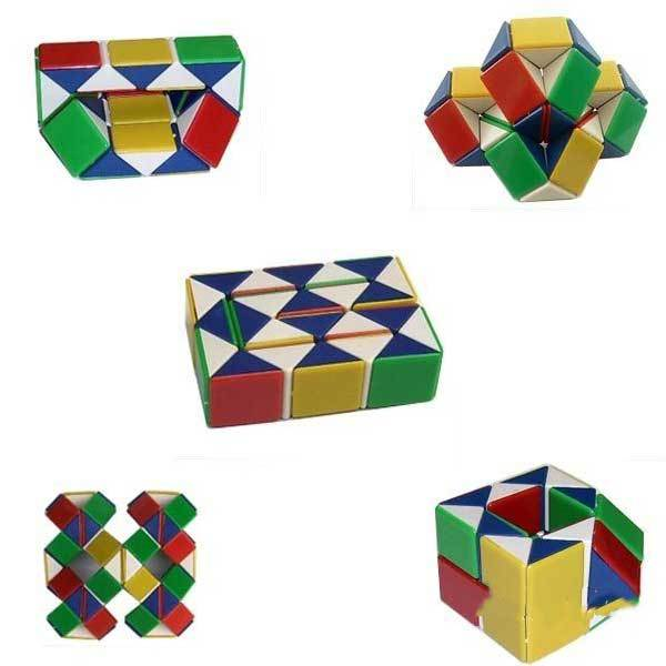 Elmcrest Magic Toy Game 3D Snake Cube Puzzle(China (Mainland))