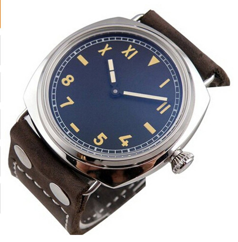 Parnis Watches Dial Black Dial 6497 Mechanical Hand ...