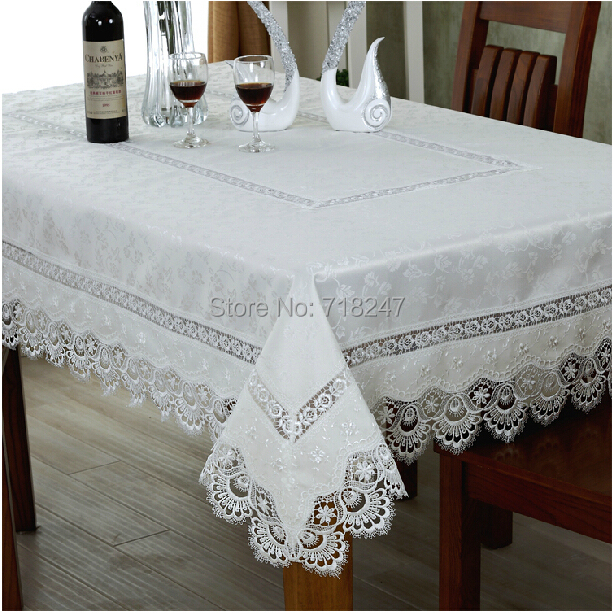"""High Quality Hot Sale 180*270cm Elegant 100% Polyester Lace Tablecloths 72*108"""" Peacock Wedding Table Linen Cloth Covers 078(China (Mainland))"""