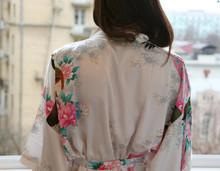 Hot 2015 Women Robe Pajama Japanese Yukata Kimono Satin Silk Vintage Bathrobe Nightgown Sexy Lingerie Sleepwear S M L XL XXL(China (Mainland))
