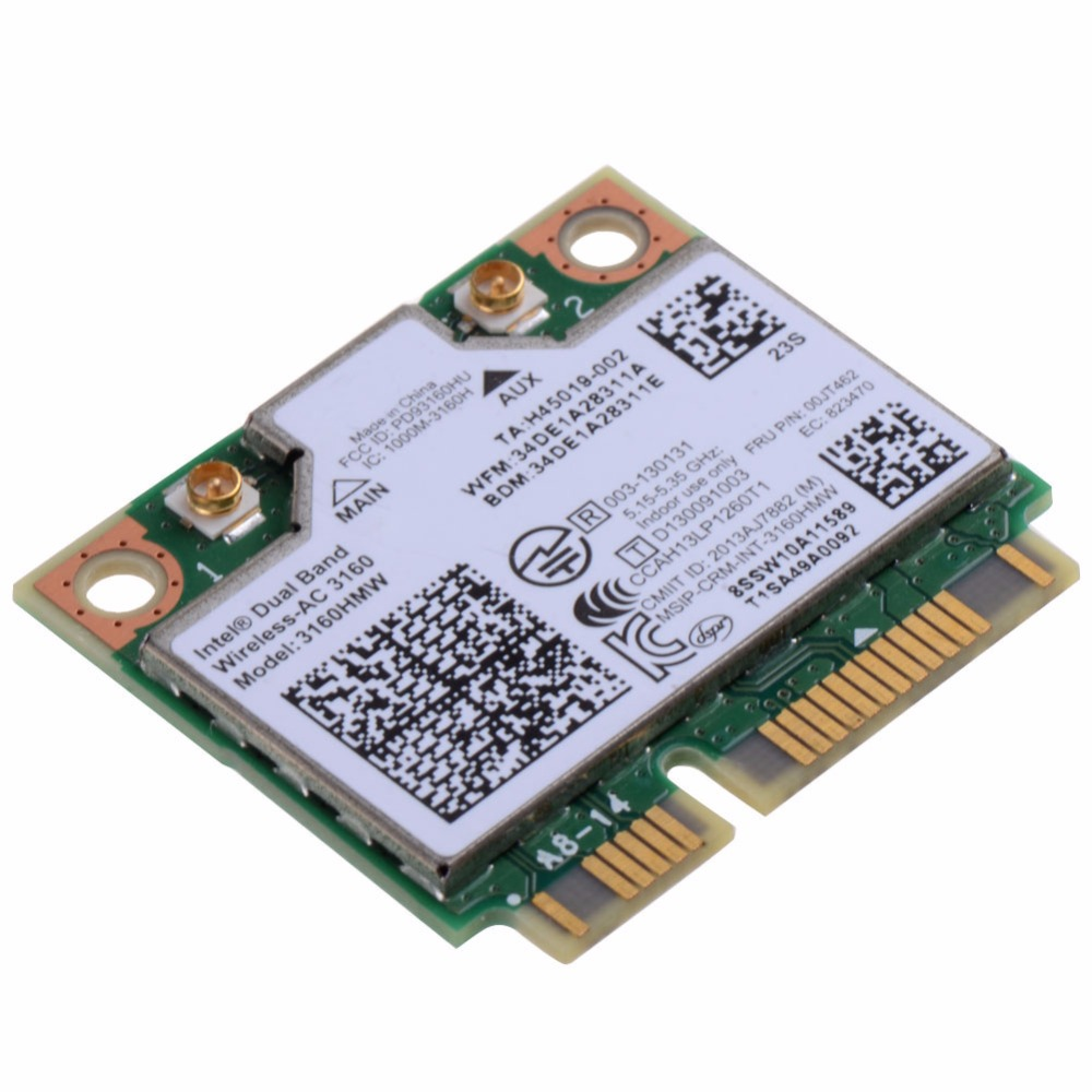 Notebook Computer Network Cards 3160HMW Wifi Bluetooth 4.0 Dual Band Wireless-AC 7260 For Intel Dual 7260 Laptops VCC80 T0.35(China (Mainland))