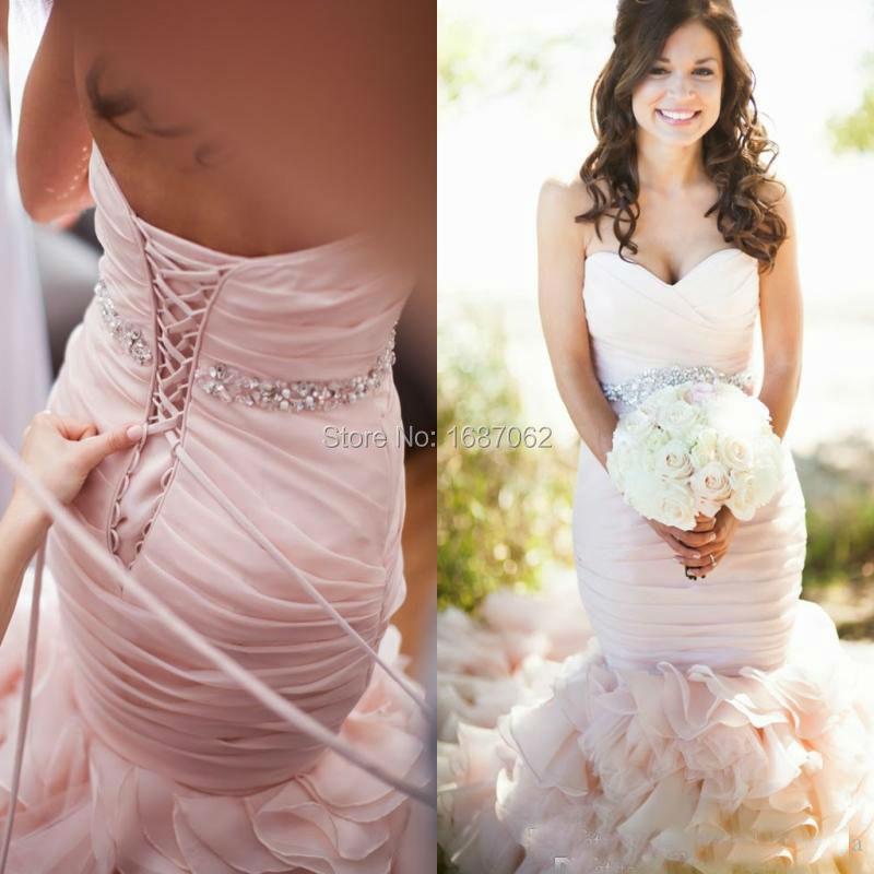 Blush Pink Plus Size Bridesmaid Dresses : Aliexpress buy romantic plus size blush pink