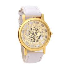 Relogios masculino montre d'affaires pour hommes bracelet en cuir synthétique polyuréthane en alliage analogique Quartz montres hommes montre horloge montres homme(China)