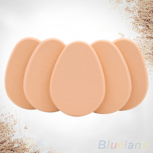 Hot Sale Fashion 2015 5x Egg Oval Smooth Makeup Sponge Blender Powder Puff Flawless Beauty Foundation(China (Mainland))