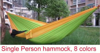 1 шт. парашют ткань одного гамак туризм кемпинг выживания гамак для внутреннего и наружного HA30119