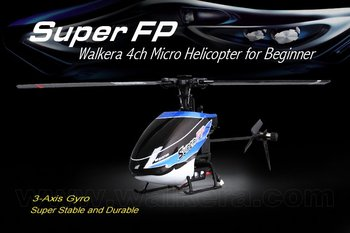 Walkera Mini Super FP + Devo 8s 2.4G 3-Axis Flybarless RC Helicopter free shipping
