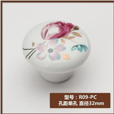 Wholesale Furniture Cabinet handles Drawer knobs Kitchen handles Pull handles Flower pattern 3.2cm 10pcs/lot Free shipping(China (Mainland))