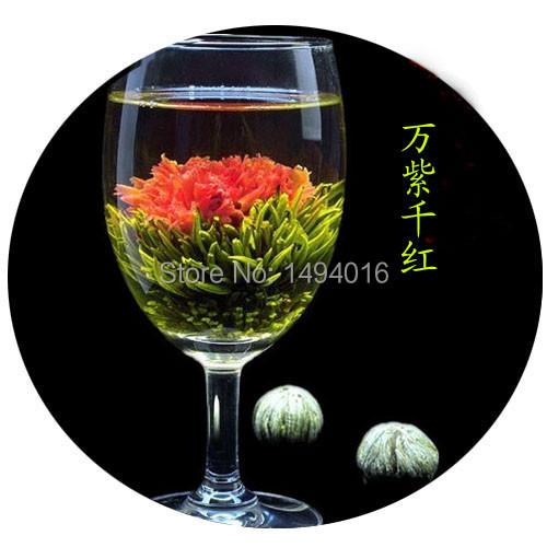 0.13kg per bag 16 pcs green tea flowering tea balls blooming flower tea with new age item type scented tea 18 months shelf life<br><br>Aliexpress