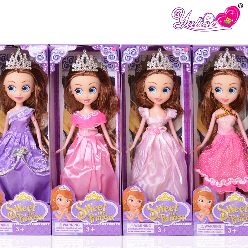 2016 New Large Dolls Crown Version Sophia 27cm Girls Interactive Toys National Wind Version of Parent-child Humanoid doll(China (Mainland))