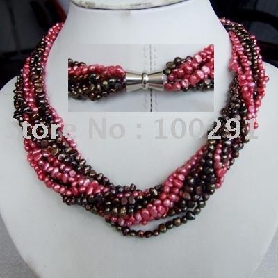 Fashion wedding&life&party&gift Costume Womens' Jewelry Elegant New Style Freshwater Pearl Necklace(China (Mainland))