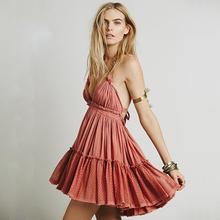 BellFlower Summer Dress Women Backless Beach Dress Holiday Boho Strapless Dress Sexy Ball Gown Hippie Chic Dress Vestido