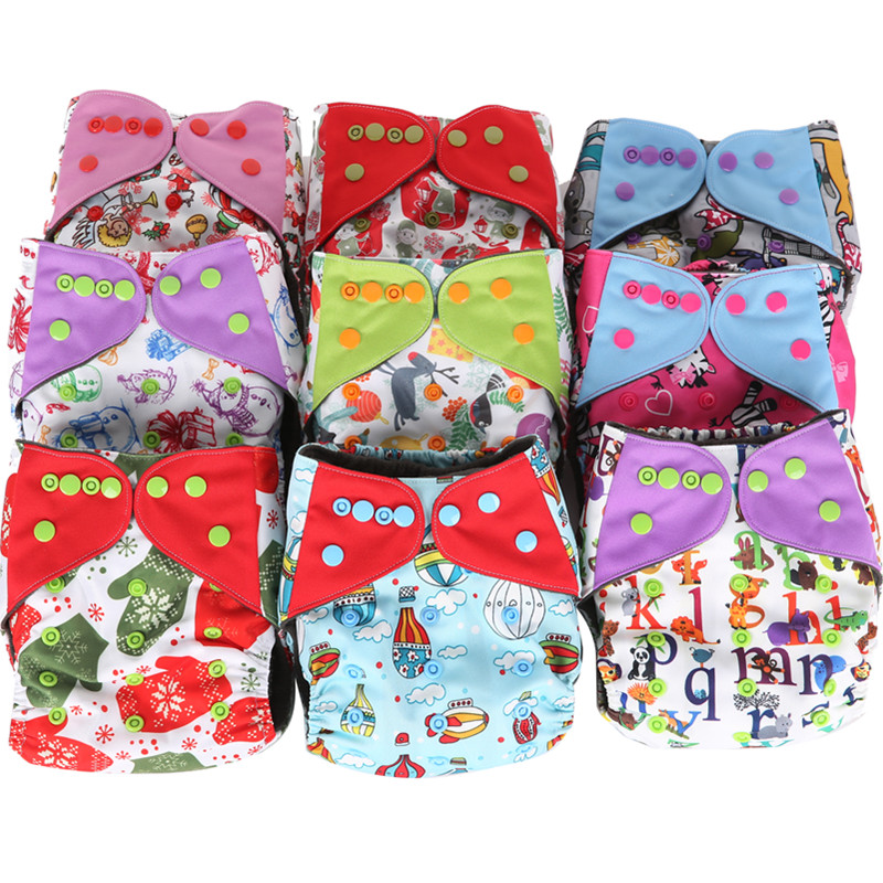 Free shipping 1pc/lot 84 patterns available cloth diaper nappy printed pul bamboo charcoal inner double gussets color tab(China (Mainland))