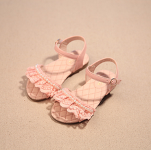 2016 Children Summer Open-toed Sandals Girls Princess Pearl Lace Shoes Kids Flat Sandals Babay Shoes Mini Melissa Shoes Kids(China (Mainland))