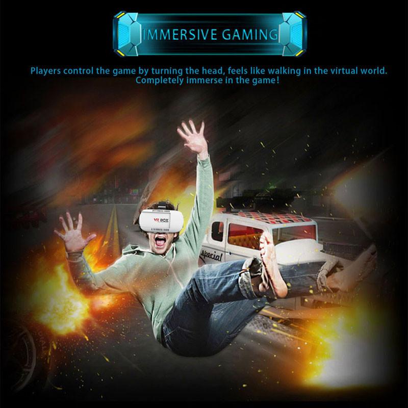 ถูก 42มิลลิเมตรVR Boxรุ่นรุ่นความจริงเสมือนแว่นตา3D +สีฟ้าแก้ว+การควบคุมระยะไกลสำหรับเกม3D L3FE