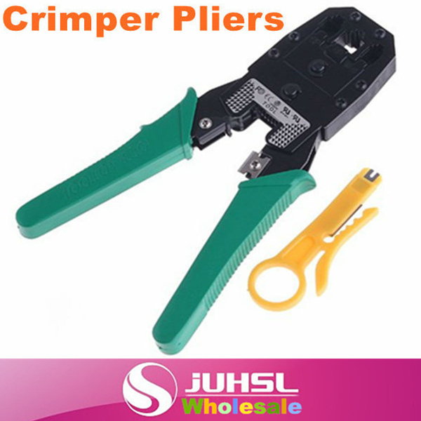 RJ45 RJ11 RJ12 Wire Cable Crimper Crimp PC Network Tool, Free Shipping Wholesale,Hand Tools,Pliers(China (Mainland))
