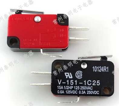 50pcs V-151-1C25 Momentary Limit Micro Switch SPDT Snap Action Switch*<br><br>Aliexpress