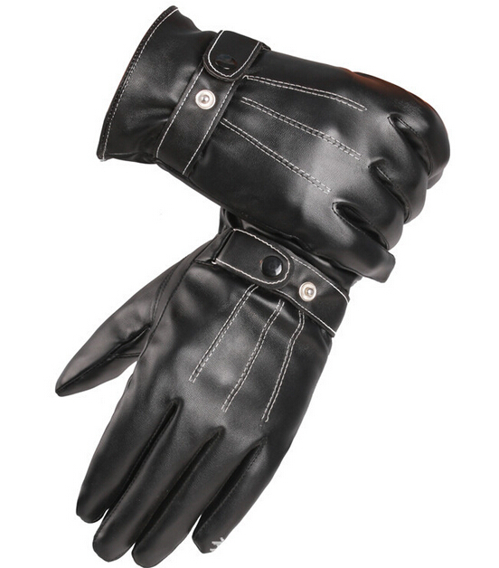 Men Winter Gloves Men s Leather Gloves driving glove men Mittens Keep Warm Winter In the