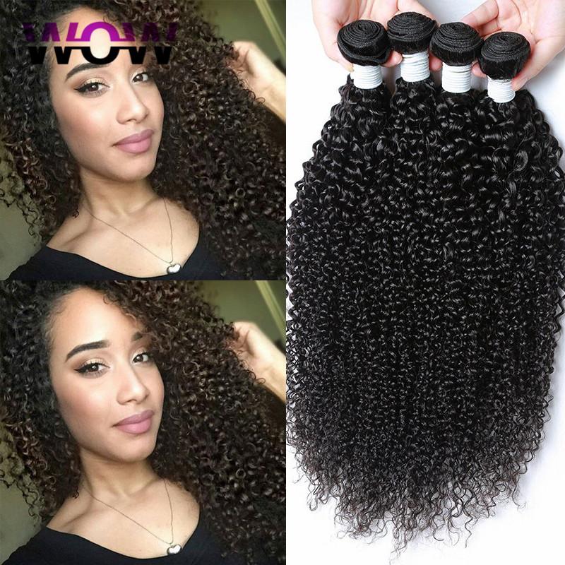 8A Malaysian Curly Hair 4 Bundles Malaysian Kinky Curly Virgin Hair Remy Human Hair Extensions Malaysian Kinky Curly Hair(China (Mainland))