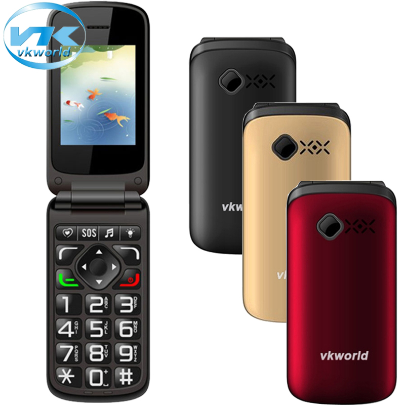 Original VKworld Z2 2.4 inch TFT Elders Mobile Phone Cell Phone Keyboard Celular Bluetooth Support Dual SIM Card Phone(China (Mainland))