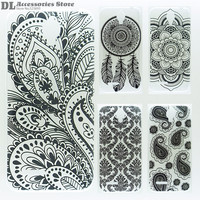 Case For Alcatel One Touch Idol 2 Mini OT6016 6016D 6016A 6016E 6016X Black Texture Printing Drawing Cover Hard PC Phone Cases