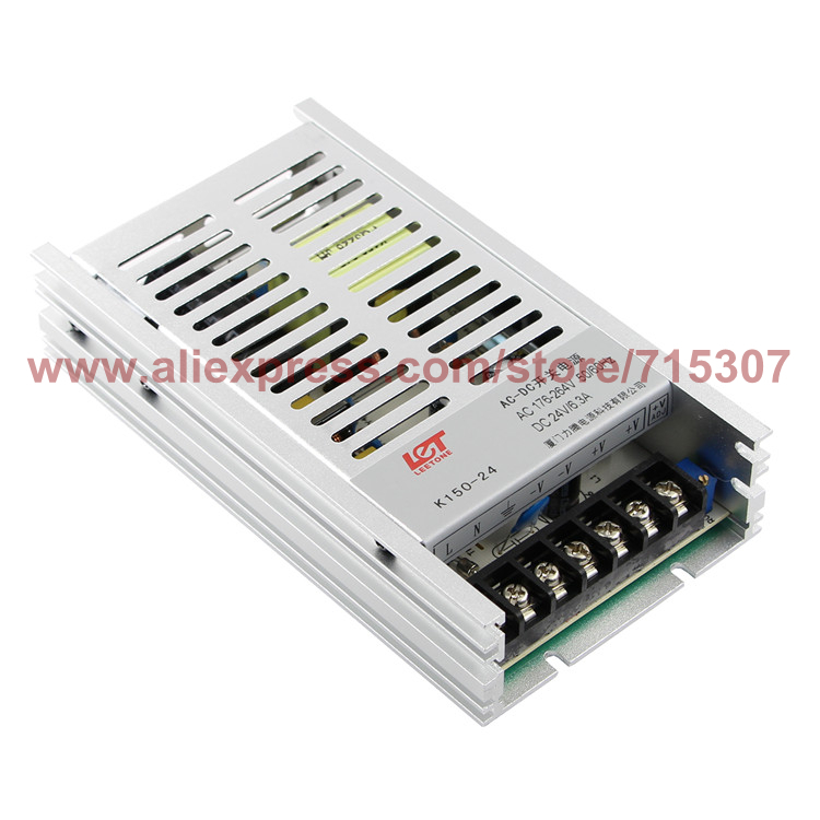 Leetone K150-24 150W switching power supply 24V 6.25A high efficiency 176-264VAC input with OVP & OTP for 3 years warranty(China (Mainland))