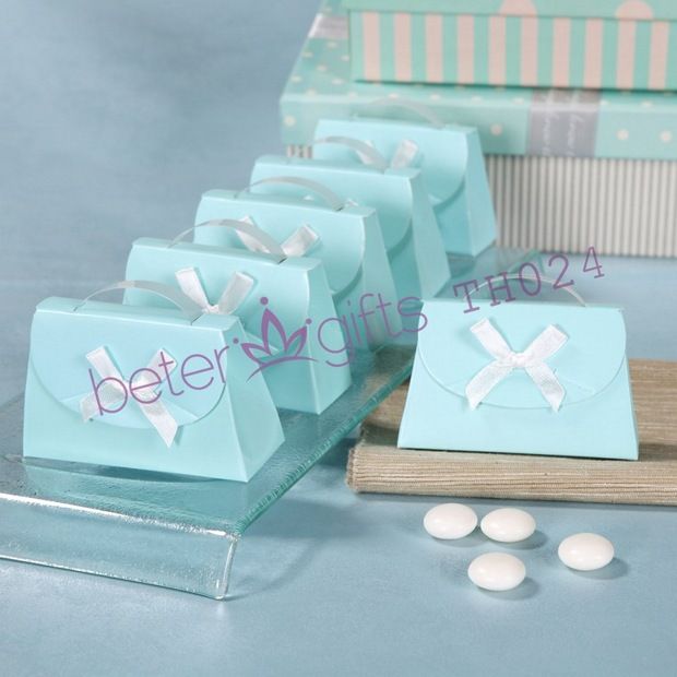 Aqua Wedding Favor Boxes : Free shipping pcs aqua blue wedding favor box candy