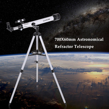 Visionking 700x60mm Refractor Space Astronomical Telescope 210X HD Monocular Spotting Scope Outdoor Portable Travel Telescope(China (Mainland))