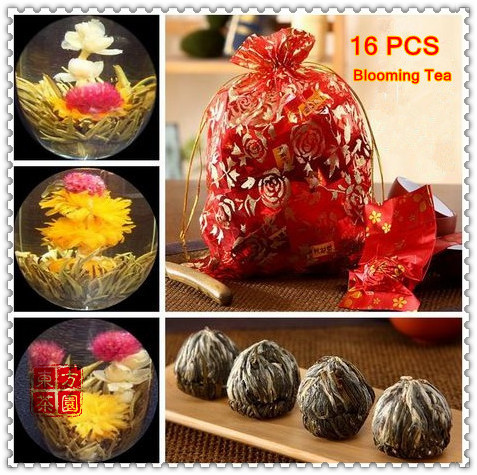 Гаджет  16 Kinds Manual Artistic Blossom Flower Tea Such As: Rose Tea/ Peony Tea  Individual Vacuum Packing For Health  Free Shipping None Еда